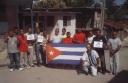 Opositores en Palma Soriano durante una actividad publica en 2011