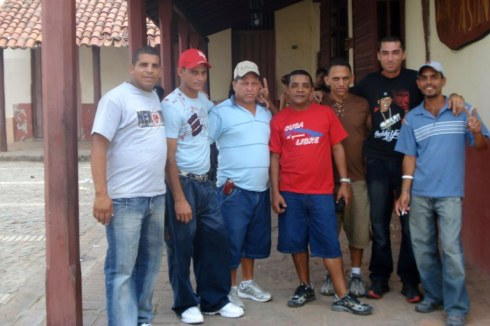 Activistas de la ADO en un recorrido y actividades de Trabajo por Bayamo, 2008