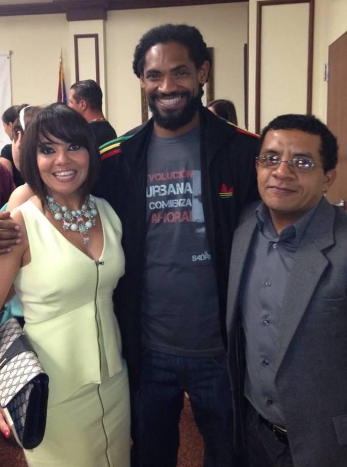 Con Yusimí Sijo y el rapero Raudel Collazo