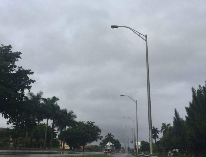 Miami, ciudad húmeda y donde la lluvia te asalta sin avisos.